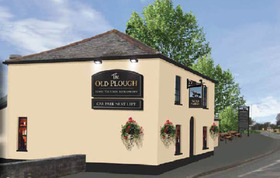 Old_plough_black_signage_building